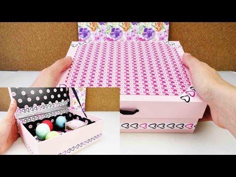 Tolle Box als Aufbewahrung | DIY Room Decoration | Beauty, Kosmetik, EOS oder als Sammelbox