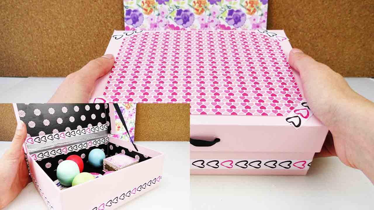 tolle box als aufbewahrung diy room decoration beauty kosmetik eos oder als sammelbox. Black Bedroom Furniture Sets. Home Design Ideas