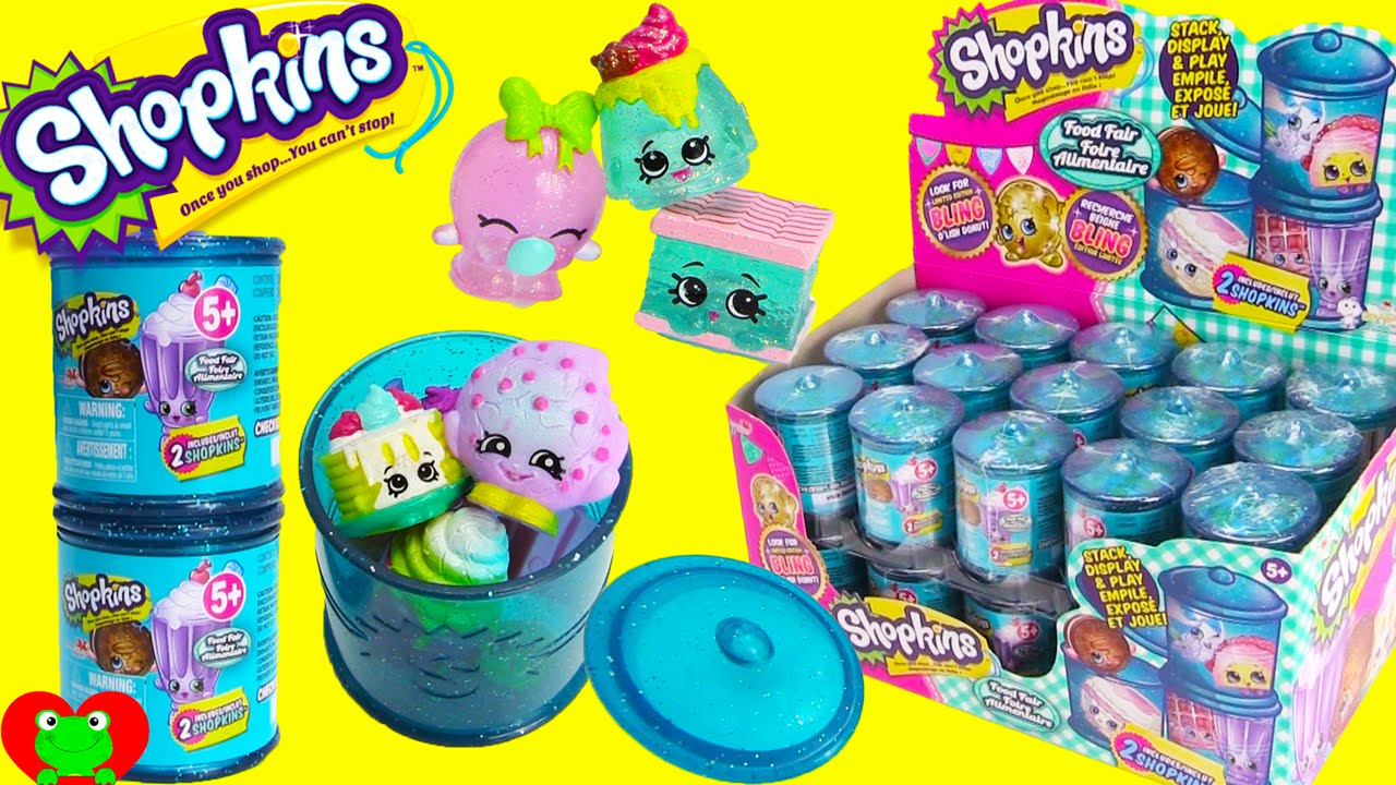 Shopkins Season 4 Food Fair Candy Jars With 8 Ultra Rare Finds