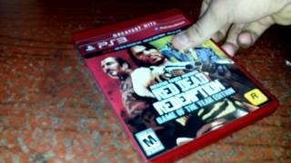 Unboxing/Abriendo Red dead redemption goty ps3
