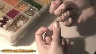 Как сделать колье из бисера / How to make a necklace of beads