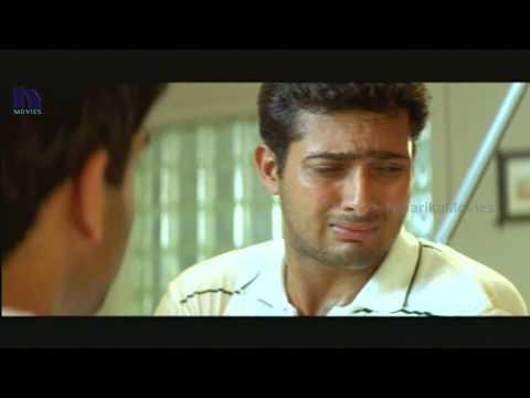 Uday Kiran Saved by His Friend  - Nee Sneham Telugu Movie Scenes
