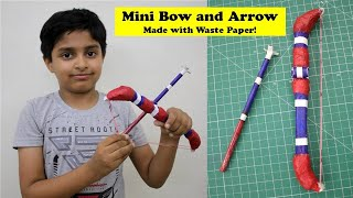 Made Mini Bow and Arrow with Waste Paper (हिंदी) | धनुष तीर कैसे बनाते हैं | Best Out of Waste Craft