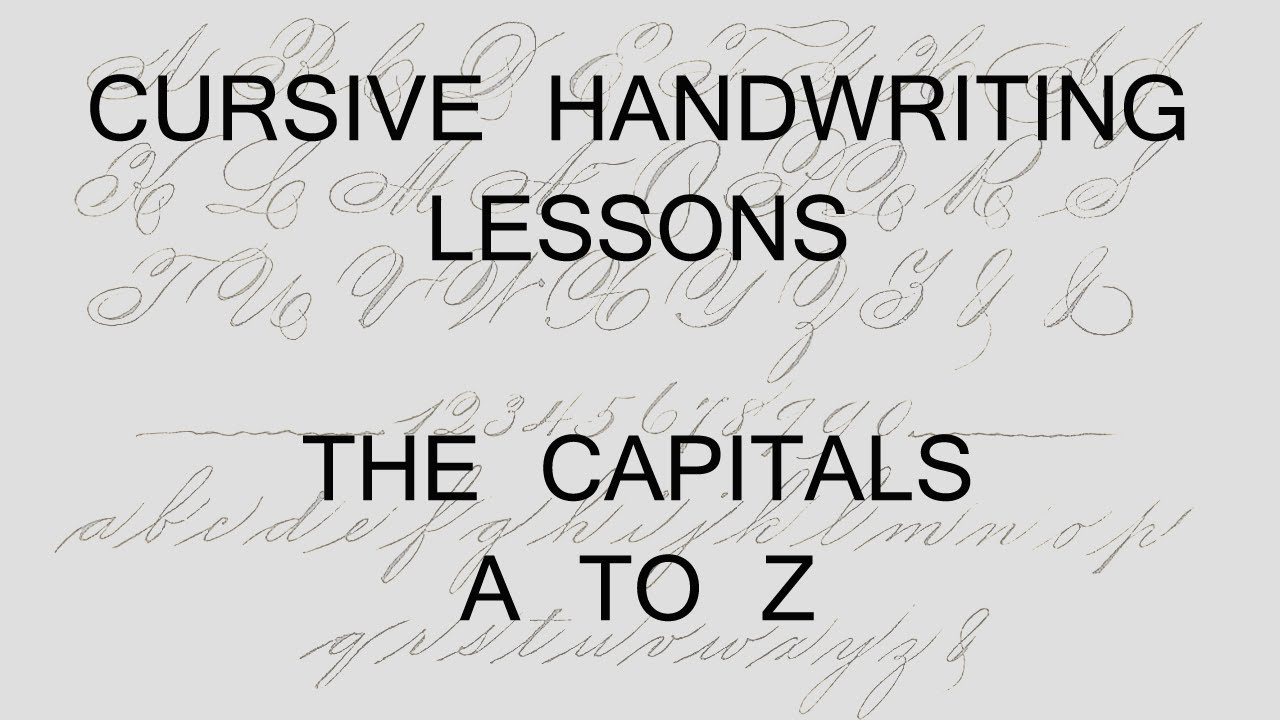 Worksheets Alphabet In Cursive Capital Letters lesson 27 capital letters handwriting penmanship calligraphy copperplate
