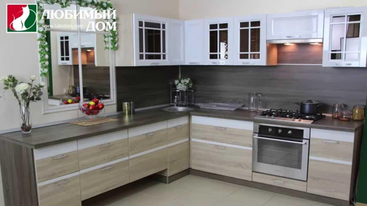 Модульная серия мебели для кухни «Оливия» «Белый глянец ...