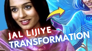 Jal Lijiye - Amrita Rao Transformation   Fanart   Digital Painting   Artma #Shorts