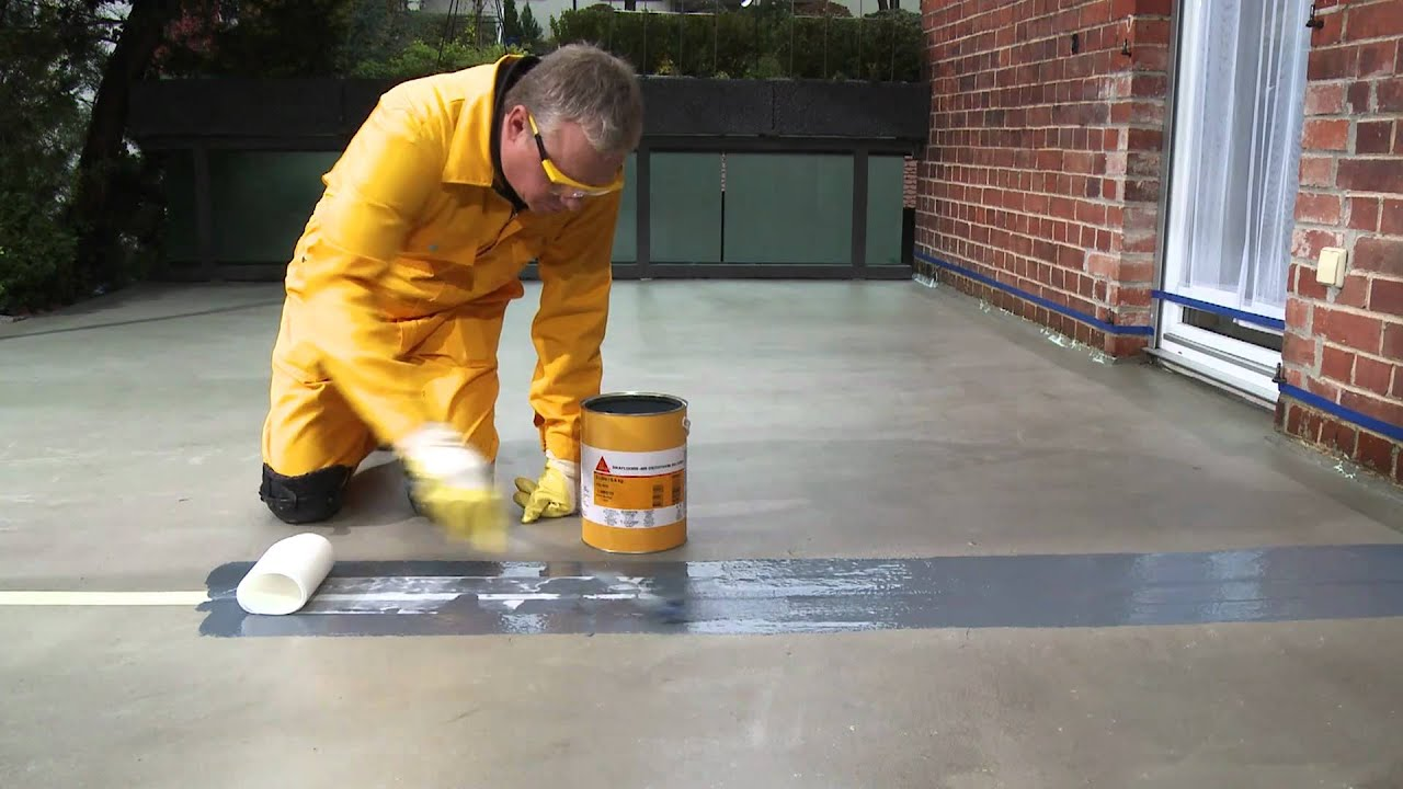Terrasse Abdichten Mit Flüssigkunststoff Sika Sealing Of Expansion Joints Youtube