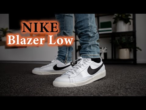 Nike Blazer Low Leather (White/Black/Sail) On Feet (Best Affordable Sneaker of 2020?!)