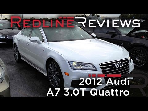 2012 Audi A7 3.0T Quattro Review, Walkaround, Start-Up & Rev