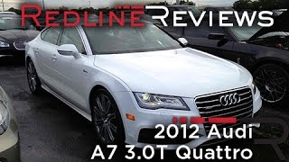 2012 audi a7 3 0t quattro review walkaround start up rev