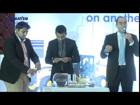 Genuine Vs Non-genuine KOMATSU filters Demo @ KOMATSU graders launch Doha