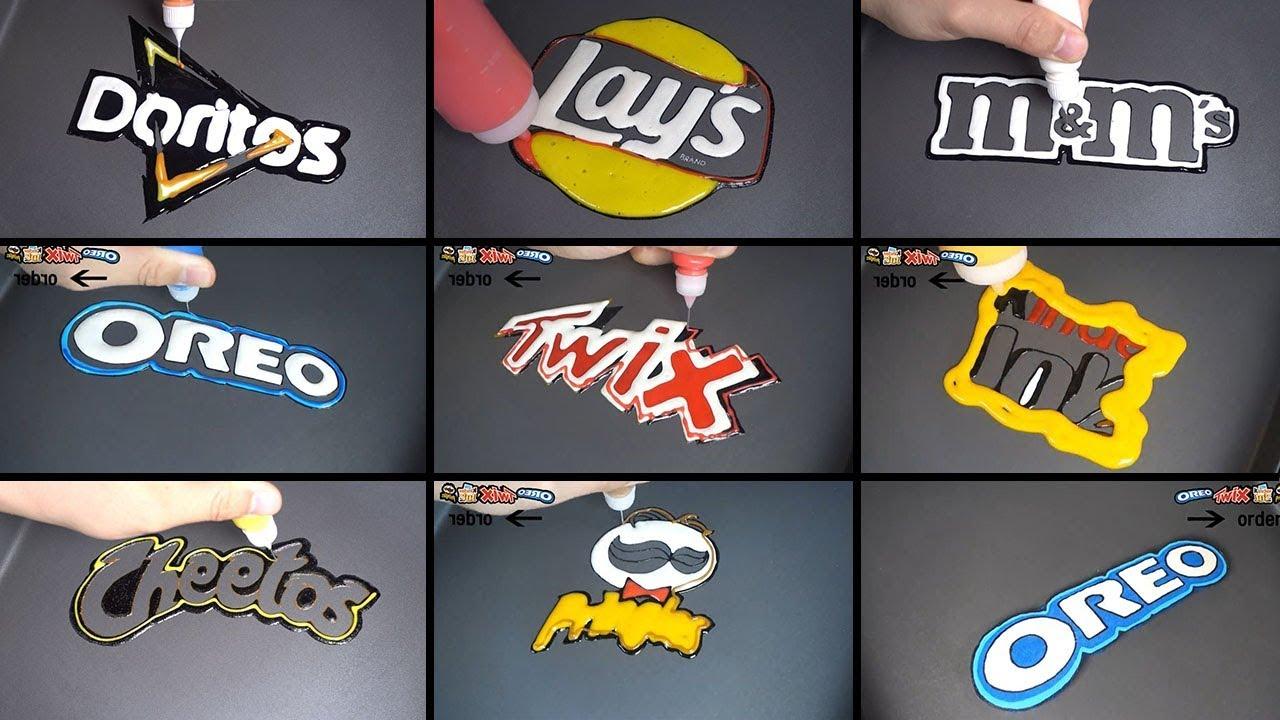 Download snack brand logo pancake art - oreo, twix, doritos, pringles, kinder joy, cheetos, m&m's