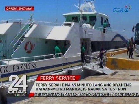 Ferry service na 45 minuto lang ang biyaheng Bataan-Metro Manila, isinabak sa test run