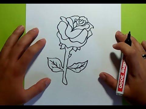 Como dibujar una rosa paso a paso 6 how to draw a rose 6 - Como secar una rosa ...