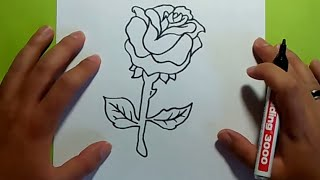 Como dibujar una rosa paso a paso 6 | How to draw a rose 6
