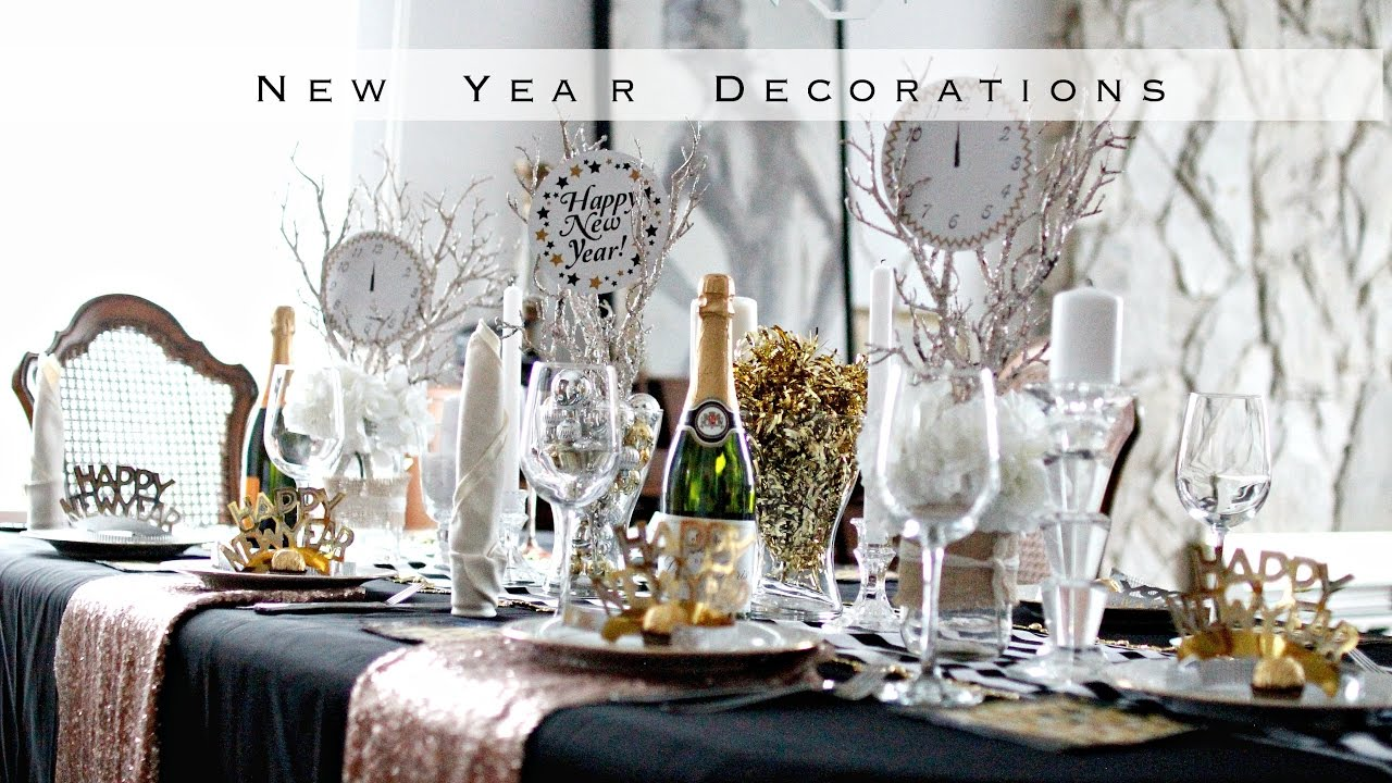DIY New Years Decorations - EASY BLACK & GOLD Theme! - YouTube