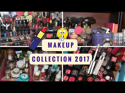 My Makeup Collection & Storage 2017 | Affordable Storage to Organize Makeup India| Beauty Infinite