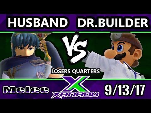 S@X 219 Melee - Husband (Marth) Vs. Doctor Builder (Dr. Mario) - Smash Melee Losers Quarters - SSBM