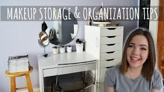 makeup storage organization tips atypicalbabe