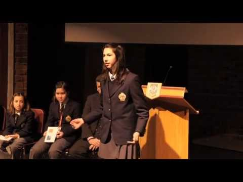 Ridley College Grade 8 Student Winner of Optimist Club Public Speaking Competition