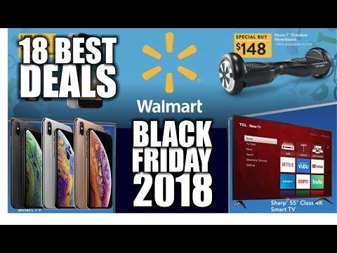 Best BLACK Friday 2018 Deals at Walmart - TV's iPhones iPad Consoles etc...