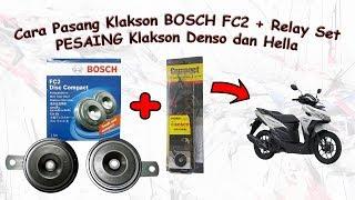 CARA PASANG Klakson Bosch FC2 plus Relay Set Pesaing Denso Hella