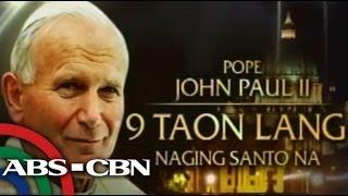 The canonization of Pope John Paul II and Pope John XXIII