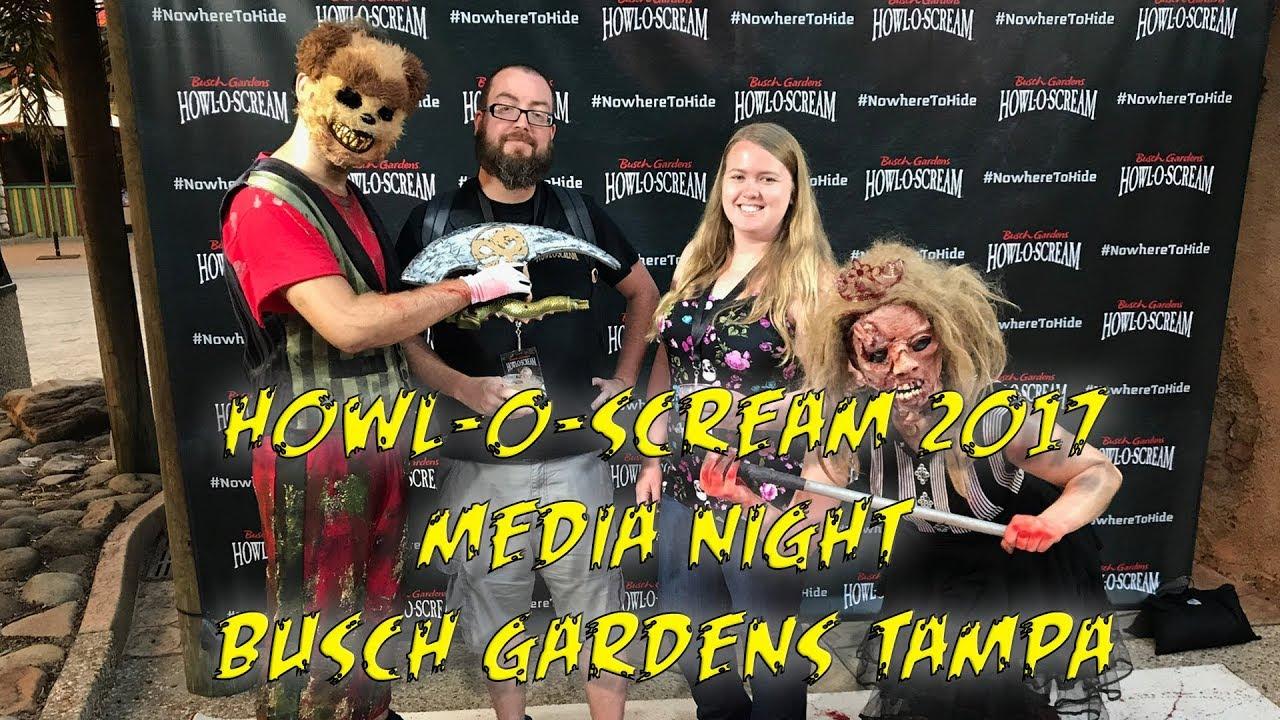 Howl O Scream 2017 Media Night Tour Review Busch Gardens Tampa Youtube