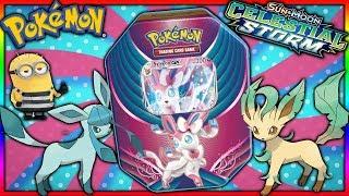 Lets open the new Pokemon Sylveon Gx evolution celebration tin!