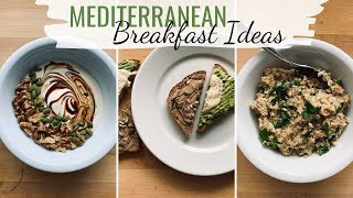 Today i'm sharing three mediterranean diet breakfast recipe ideas! check out these recipes below :) if you're eating a and n...