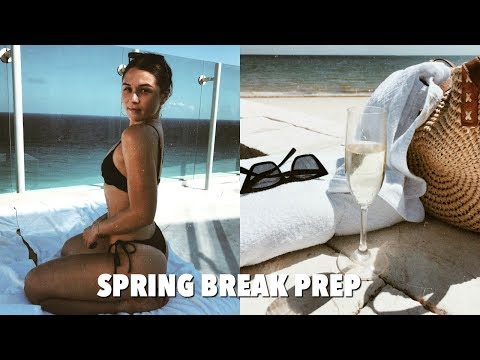 VLOG: prep & pack for spring break with me!