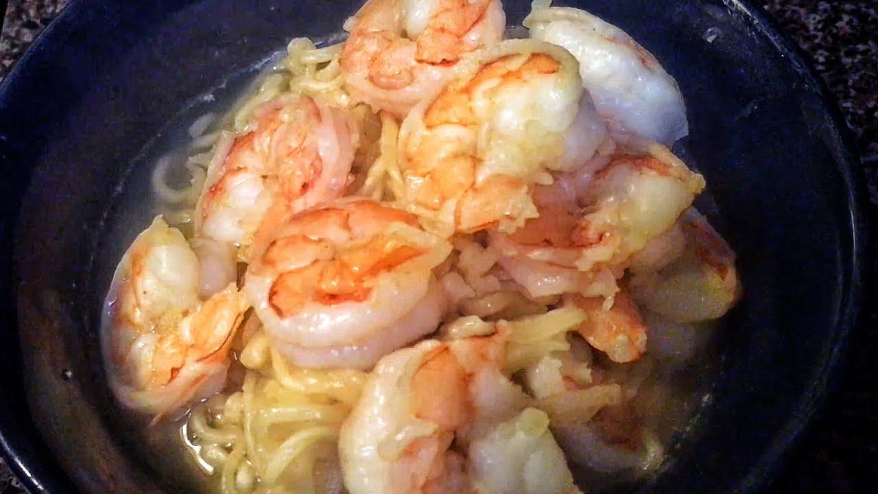 How To Make Ramen Noodles With Shrimp Youtube