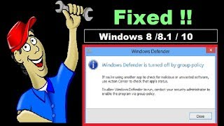 How To Fix Windows Defender This App Is Turned Off By Group Policy