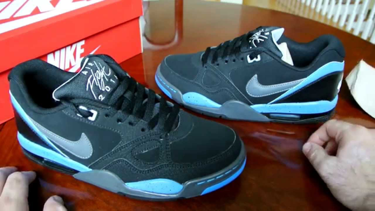 acb2086d6204 ... sale nike air flight 13 black and blue youtube 54a61 6d244