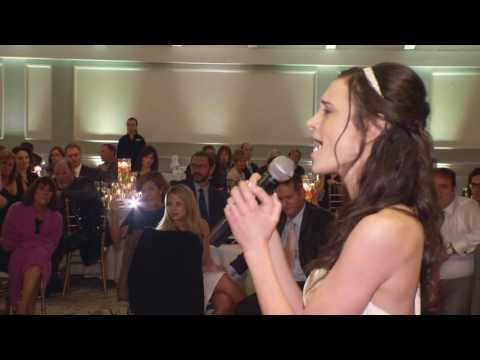 Bride sings Stand By Me to Groom at wedding