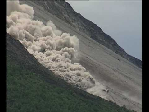 Pyroclastic flows on Mt Merapi  Java  Indonesia