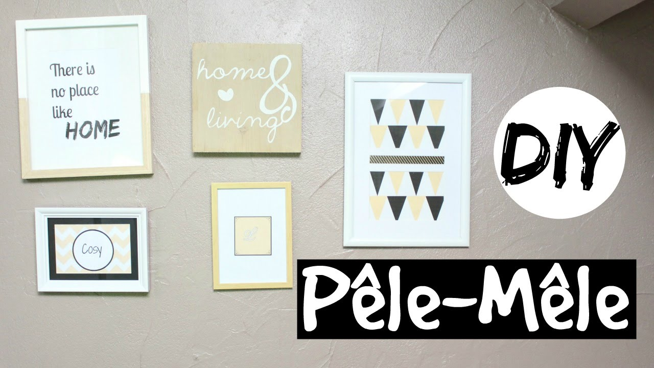diy pele mele cadres de chez action pour moins de 10 euros youtube. Black Bedroom Furniture Sets. Home Design Ideas