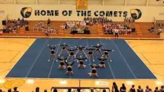 """In honor of """"Throwback Thursday"""": The Comet Cheer squad's performan..."""