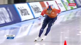 Speed Skating World Record 1500m Kjeld Nuis - 1:40.176 Salt Lake City (10 March 2019)