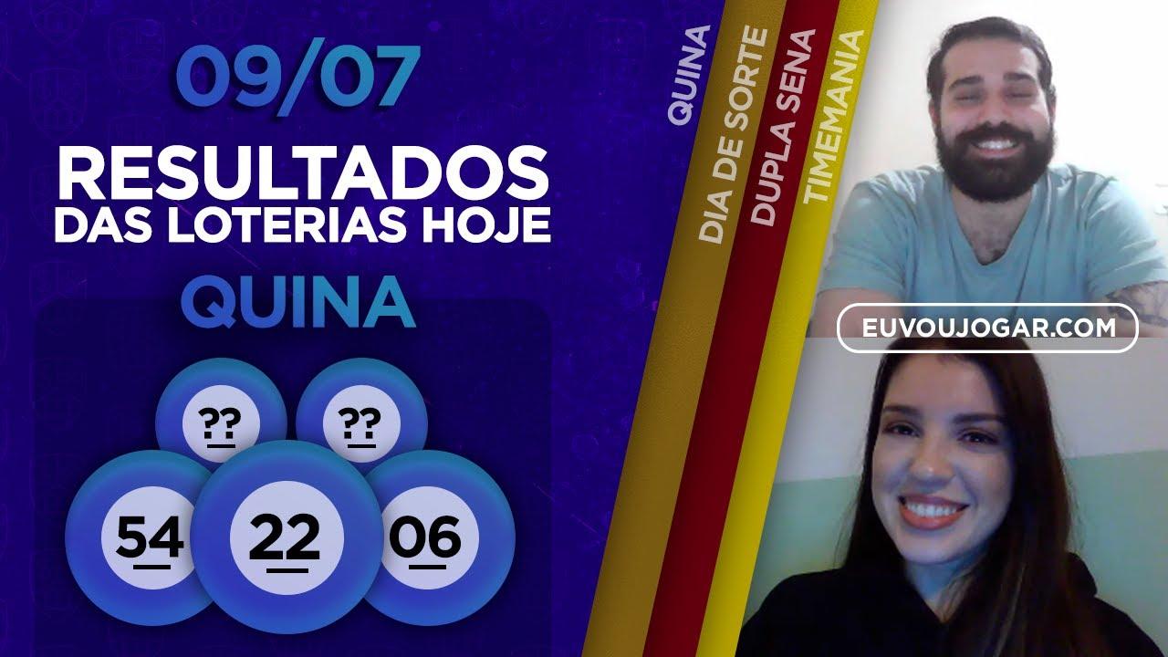 🔴 LIVE: RESULTADO QUINA 5309 | DIA DE SORTE 327 | DUPLA SENA 2102 e mais - 09/07