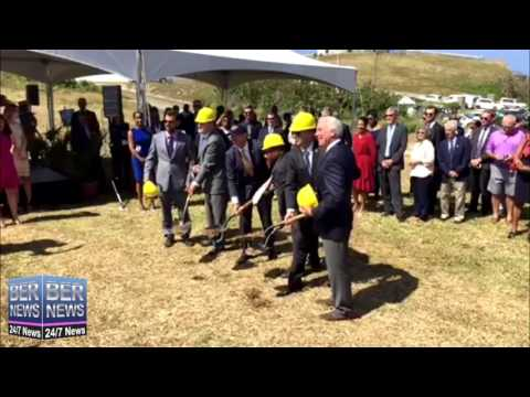 St Regis Hotel Groundbreaking In St George's, May 4 2017