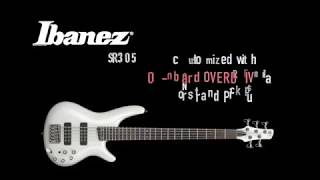 Ibanez SR305 5 string bass customized with onboard overdrive and Nordstrand Pickups