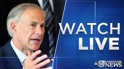 WATCH LIVE: Texas Gov. Greg Abbott's COVID-19 update on April 8, 2020