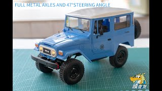 WPL C34KM Toyota FJ40 full metal unboxing and assembly in details