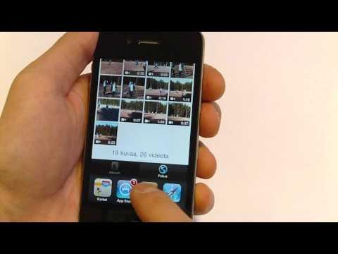 iPhone 4:n käyttöliittymä