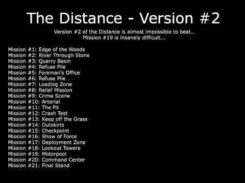 The Distance Version #2 - Guide/Walkthrough (The Walking Dead: No Man's Land)