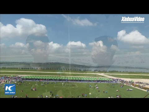 LIVE: Parachute teams show off stunts at Faku airshow in Shenyang, China