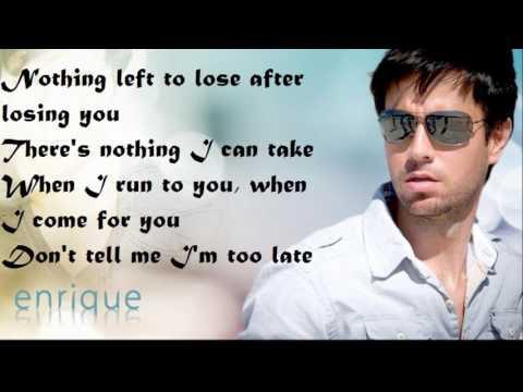 Enrique Iglesias-Maybe Lyrics & Cover HD 1080p