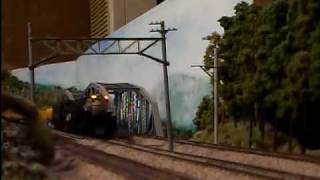 花月園 4-8-8-4 BIGBOY HO train UP HW passenger car
