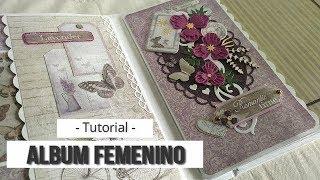 ALBUM FEMENINO 'ROMANTIC TIMES' (CON MAS SCRAP) - TUTORIAL | LLUNA NOVA SCRAP